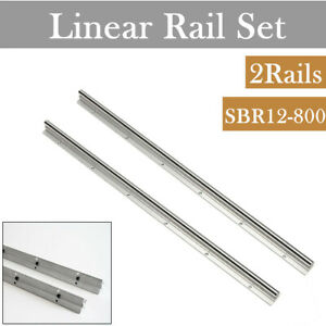 Shaft Rod Linear Rail Sbr12 800 2pcs For Cnc Fully Supported Slide Guide