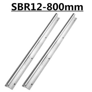 Shaft Rod Linear Rail Sbr12 800 For Cnc 2pcs Fully Supported Slide Guide