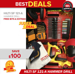 Hilti Sf 121 a Cordless Drill Set Preowned Free Bits T shirt Hat Extras