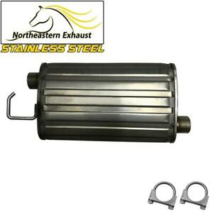 Fits 1998 2004 Ford Mustang 3 8l 3 9l Stainless Steel Exhaust Resonator Muffler