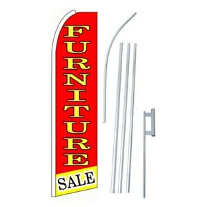 2x Furniture Sale Flag Swooper Feather Sign Weatherproof Banners 15 Kit 2 r y