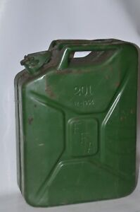 Jerry Can 5 Gallon 20l Gas Gasoline Fuel Army Nato Military Steel Tank