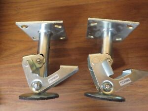Lot Of 2 Albion 71lf0680g Floor Lock use W 6 In Caster Nice Used