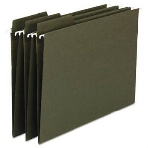 Fastab Recycled Hanging File Folders Legal Green 20 box 2 Pack