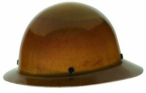 Msa 454664 Skullgard Full Brim Hard Hat With Staz on Suspension Natural Tan