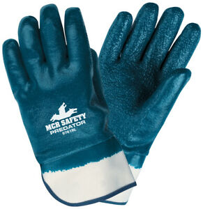12 Pairs Mcr Safety Nitrile Coated Jersey Lined Work Gloves