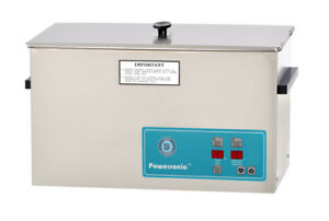 New Crest Powersonic P1200h 45 2 5 Gal Heated Ultrasonic Cleaner 1200ph045 1
