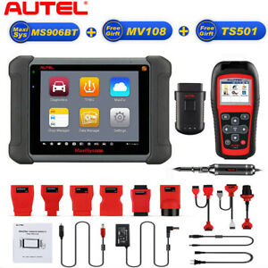 Autel Maxisys Ms908 Obd2 Auto Automotive Diagnostic Scanner Tool tpms501 mv108
