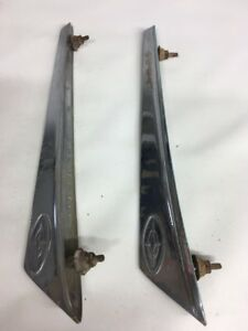 1963 63 Ford Galaxie Fender Top Molding Ornament Spear Trim Chrome Left Right