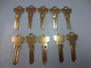 Lot 10 Kwikset Kw 10 Key Blanks Brass 6 Pin Made In Usa By Ilco