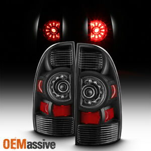 black Edition Fits 05 15 Toyota Tacoma Led Tail Lights Brake Lamps Replacement