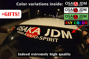 Kanjozoku Osaka Jdm Windshield Banner Sticker Decal No Good Racing Loop One Old
