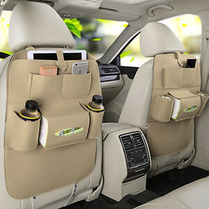 Felt Car Seat Back Bag Organizer Storage Holder Multi Pocket For Ipad Phone Usa