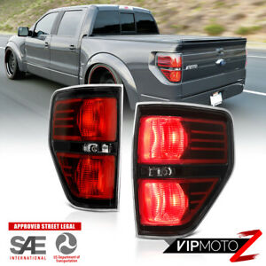 For 09 14 Ford F150 Pickup Raptor Style Black Tail Light Signal Replacement