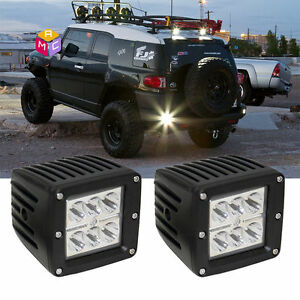 Dual 2 3x3 Led Cube Pod Spot Fog Lights Fit Truck Jeep Off Road Atv Polaris