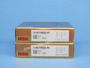 Nsk 7210ctynsulp4 Abec 7 Super Precision Spindle Bearings Matched Set Of Two