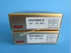 Nsk 7205ctynsulp4 Abec 7 Super Precision Contact Spindle Bearing Matched Pair