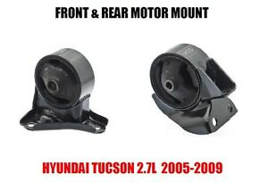 Fits front Rear Motor Mount For Hyundai Tucson 2 7l 2005 2009 2 Pcs