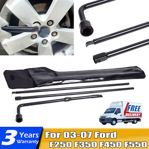 For Ford F250 F350 F450 F550 Superduty Spare Tire Lug Wrench Handle Tool Kit Oem
