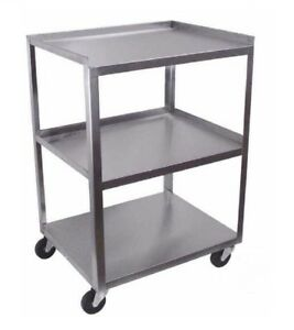 Ideal Stainless Steel 3 shelf Mobile Cart