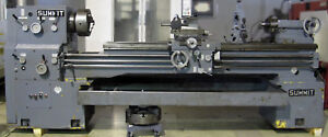 Summit 19 X 80 Engine Lathe W 3 Spindle Hole Taper Atach 7 5hp Model 17 3