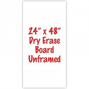 2x Premium Frameless 24 X 48 Dry Erase Whiteboard Menu Boards Sign Made In Usa