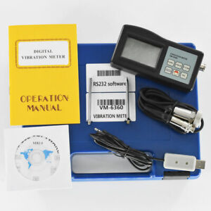 Digital Vibration Meter Tester Gauge With Cd Software Cable Vm6360 Vibrometer