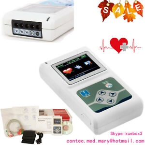 3 Channel Tlc9803 Ecg Holter Ecg ekg Holter System 24 Hours Recording Monitor