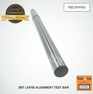 3mt Lathe Alignment Test Bar Mt3 En31 Alloy Steel Oal 335mm 13 3 16