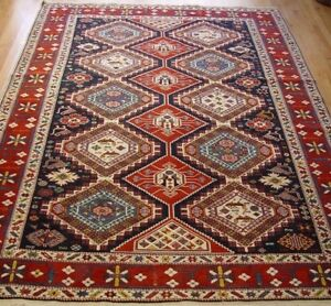 7 1 X 10 3 Shirvan Caucasian Turkish Hand Knotted 100 Wool Oriental Rug