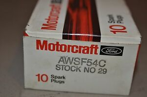 Motorcraft Spark Plugs Awsf54c Stock No 29 Ford Motorcraft Nos