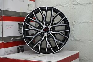 Set Of 4 Gwg Wheels 18 Inch Black Flare Rims Fits Ford Shelby Gt 500 2007 2009