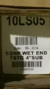 Goulds 10ls05 4 Submersible Well Pump wet End Only Requires 1 2hp Motor 7stg