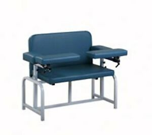 Pro Advantage Bariatric Blood Draw Chair 2 Flip arms upholstered 600lb Capacity
