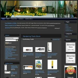 Gardening Store Fully Automated Functional Affiliate Website Great Income