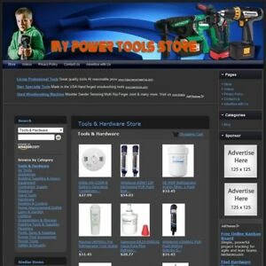 Power Tools Hardware Store Turnkey Website Your Business Runs On Autopilot