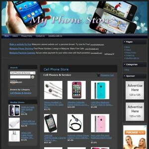 Phone Store Professionally Designed Affiliate Website Free Domain