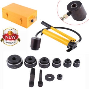 10ton 6 Die Hydraulic Knockout Punch Electrical Conduit Hole Cutter Set Tool Kit