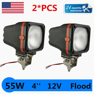 2pcs 55w 4 Driving Lights Offroad Hid Xenon Lamp Flood Beam Suv 12v Orange