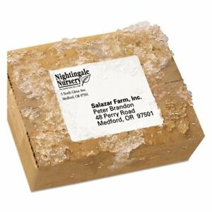 Weatherproof Shipping Labels W trueblock Laser White 3 1 3 X 4 300 pack