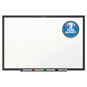 Classic Series Melamine Dry Erase Board 48 X 36 White Surface Black Frame