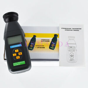 Dt2240b Digital Stroboscope Flash Tachometer 60 40 000rpm Revolution Meter