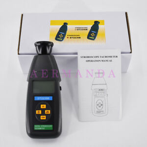 Digital Stroboscope Dt2239b Non contact Photo Tachometer 60 19999rpm Speedometer