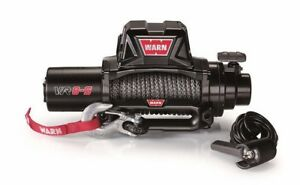 96805 Warn Industries Vr8 s 12 Volt Winch 8 000 Lbs Pull W 90 Synthetic Rope
