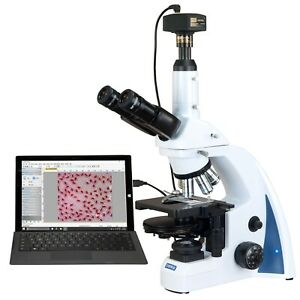 Omax 40x 3000x 14mp Digital Quintuple Infinity Plan Phase Compound Microscope