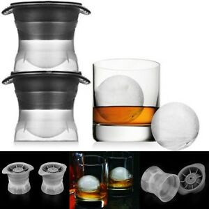 2.5 INCH Ice Ball Cube Maker Sphere Mold Round Jelly Mould Set Cocktail Whiskey