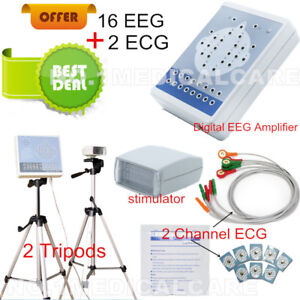 Contec Kt88 Digital Brain Eeg System 16 Channel 2 Ecg Tripods software Ce