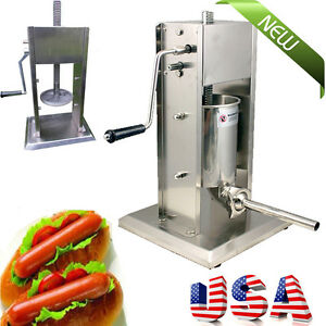 New Commercial Sausage Stuffer Vertical Stainless Steel 5l 11lb Meat Filler
