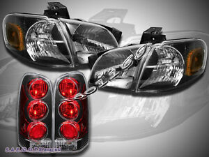 1997 2004 Chevy Venture Silhouette Headlights Tail Lights Black Combo