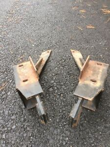 Fisher Minute Mount Snow Plow Push Plates Gm 2